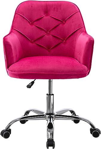 SSLine Home Office Chair,Modern Velvet Living Room Chair Shell Accent Chair,360 Adjustable Swivel Upholstered Armchair Desk Chair Task Chair