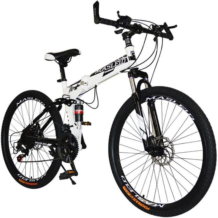 MASLEID 26 Pulgadas Bicicleta Plegable, Bicicleta de montaña, 27 ...
