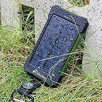 Hiluckey solar charger 10000mAh power ba...
