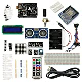 SainSmart UNO Project Basic Starter Kit with Tutorial for Arduino(UNO R3 & 1602 LCD & Prototype Shield & HC-SR04 Distance Sensor)
