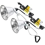 Simple Deluxe HIWKLTCLAMPLIGHTSX2 2-Pack Clamp Lamp Light with 5.5 Inch Aluminum Reflector up to 60 Watt E26 (no Bulb Include