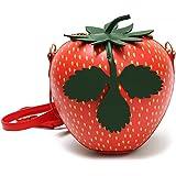 QZUnique Women's Cute Fruit Shape Mini Bag Shoulder Bag Crossbody Bag Clutch Purse