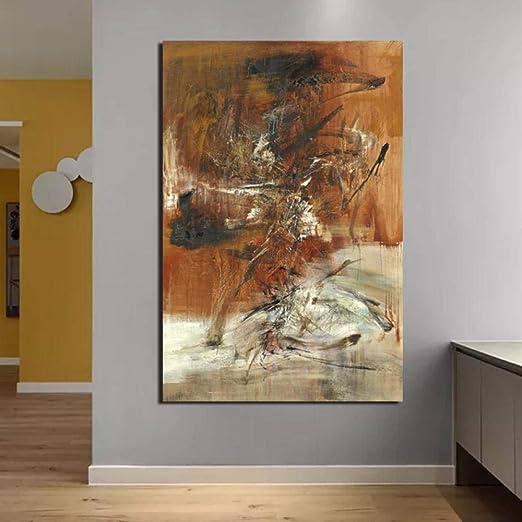 Chihie Zao WOU Ki Papier Peint Affiche Vintage Toile Peinture Impression Salon D/écor /À La Maison Moderne Mur Art Peinture /À lhuile Affiches Picture 40cm x60cm Pas de Cadre