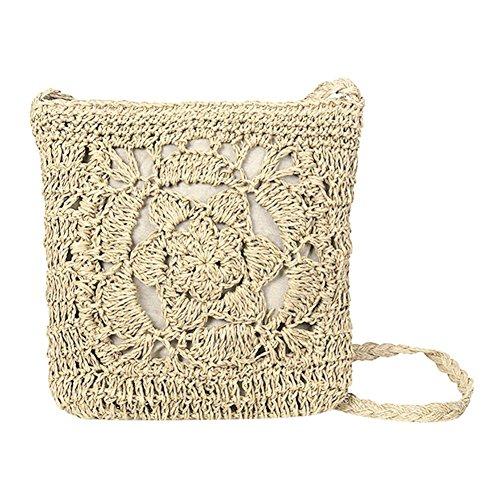 Mode Bag Épaule Sacs Paille Osier Sac Femme Vintage Été UEB Crochet Beige Braid Filles Plage Cabas Messenger w1vqpc