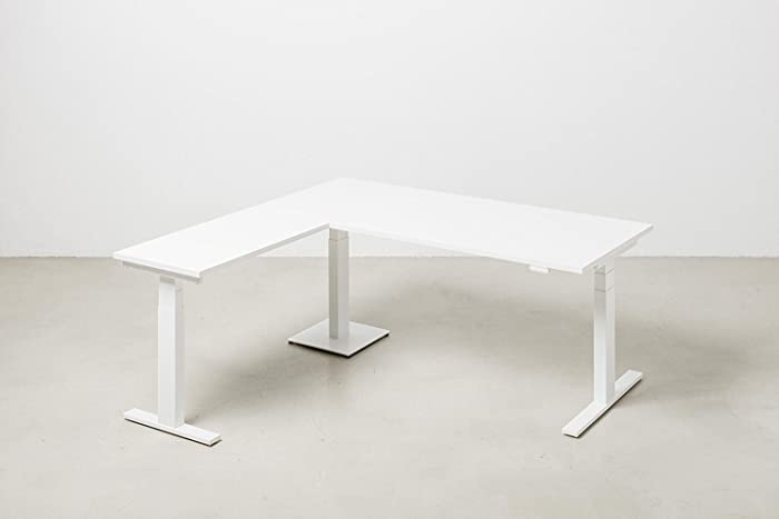 Scrivania Ad Angolo Design : Scrivania in alluminio in vetro moderna d angolo rialto