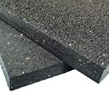 Rubber-Cal Heavy Duty Appliance Mat - 3/4'' x 4ft Wide x 6ft Long - Black Rubber Floor Protection Mat