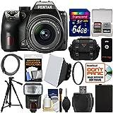 Pentax K-70 All Weather Wi-Fi Digital SLR Camera & 18-55mm AL WR Lens with 64GB Card + Case + Flash + Soft Box + Battery + Tripod + Filter + Kit