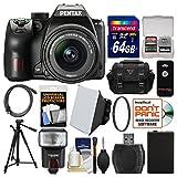 Pentax K-70 All Weather Wi-Fi Digital SLR Camera & DA 18-55mm AL WR Lens with 64GB Card + Case + Flash + Soft Box + Battery + Tripod + Filter + Kit
