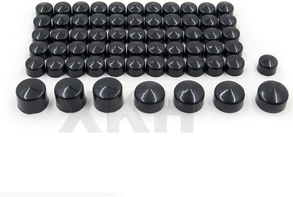B075R272YX XKH 63pcs Chrome Caps Cover Kit Compatible with 04-15 Harley Sportster Engine /& Misc Bolt Nut