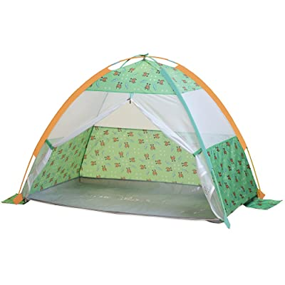 "Pacific Play Tents 19001 Kids/Infants Under The Sea Cabana with Zippered Mesh Front, 60"" x 35"" x 40"": Toys & Games"