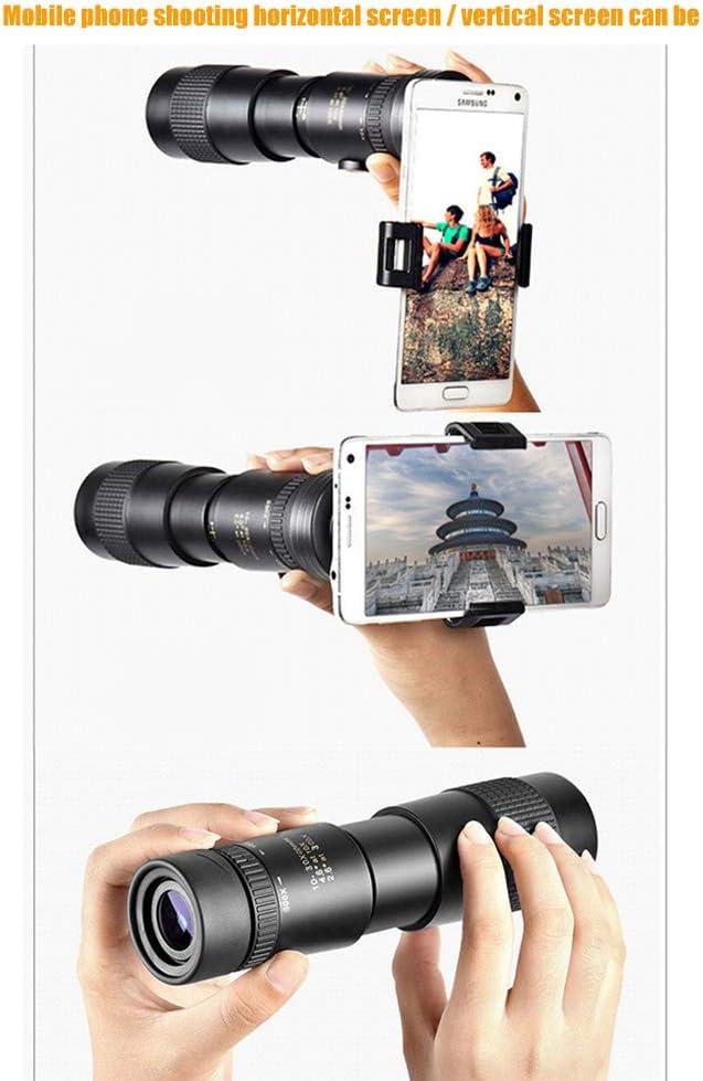 Les Concerts t/élescope monoculaire /à Zoom Super t/él/éobjectif 4K 10-300X40mm avec tr/épied de Support de Smartphone pour Les Voyages lobservation des Oiseaux T/élescopes monoculaires