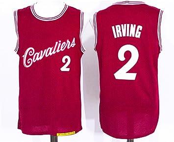 Para hombre CLEVELAND CAVALIERS Kyrie Irving # 2 2016 Navidad baloncesto Jersey, M, Rojo
