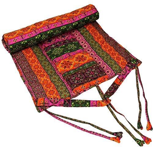 Shalinindia Belle faite à la main Coton Pilates et tapis de yoga de méditation pour femmes et filles–absorbant et idéal pour Bikram Hot Yoga