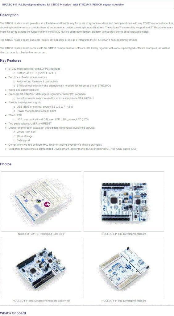 Amazon com: Waveshare STM32 Board Nucleo NUCLEO-F411RE