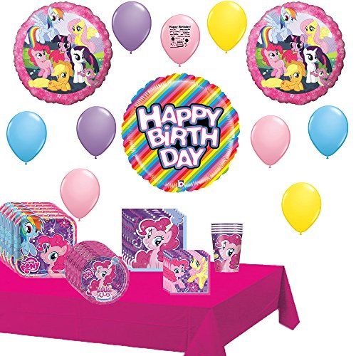 My Little Pony Deluxe Party Supply and Balloon Decorating Kit Bundle (My Little Pony Equestria Girl Costume)