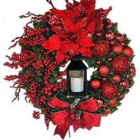 Newooh Guirlanda de Natal, guirlanda de porta de Natal para decoração de carro, janela de casa, parede