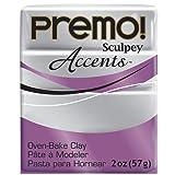Premo Sculpey Polymer Clay 2 Ounces-Silver