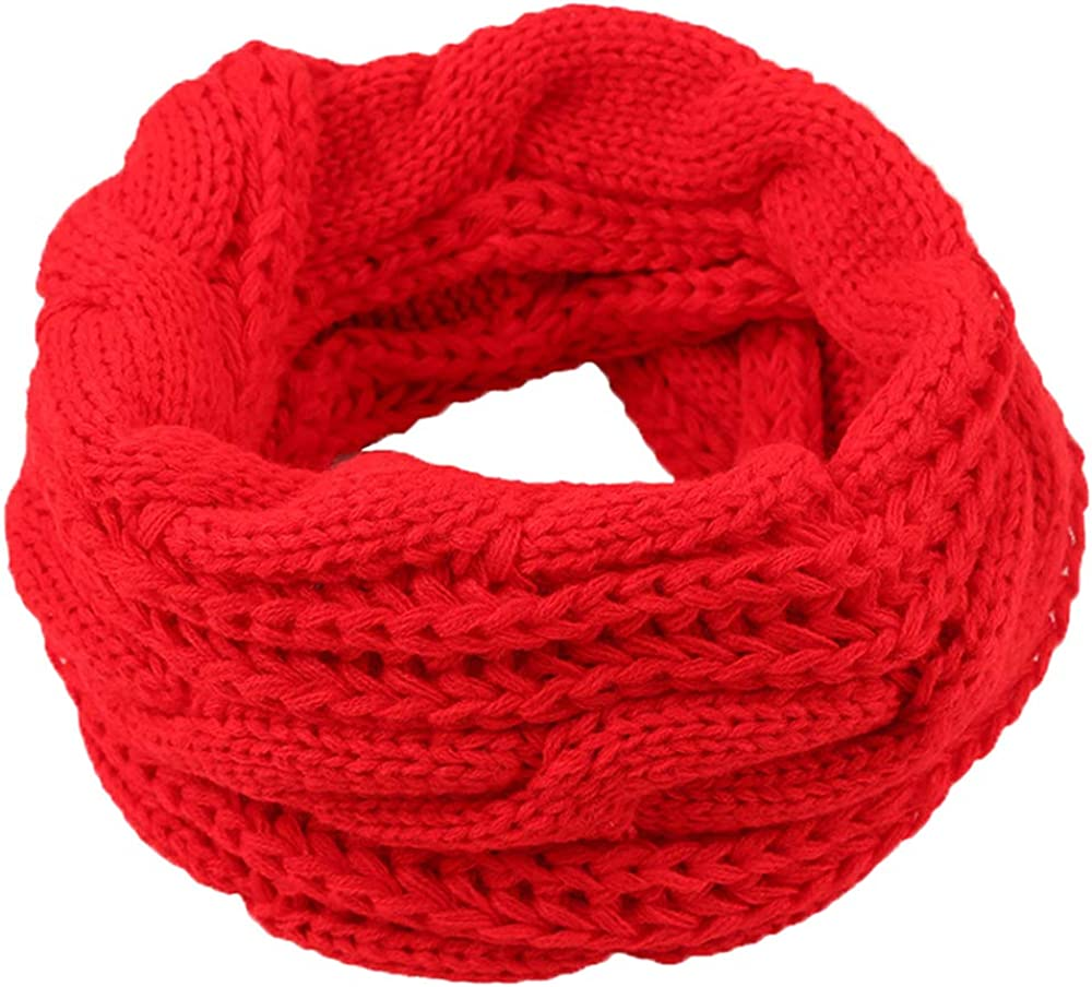 Knitted Scarf Warm Thick...