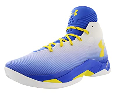 d6eafd1e9723 Under Armour Men s Curry 2.5 Basketball Shoes Royal Blue White Yellow Size  9 M