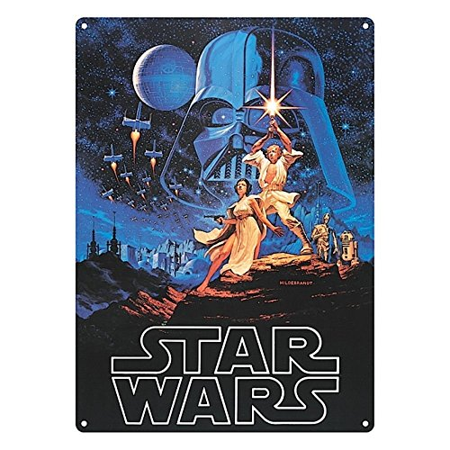 Tin Sign Large Star Wars A New Hope