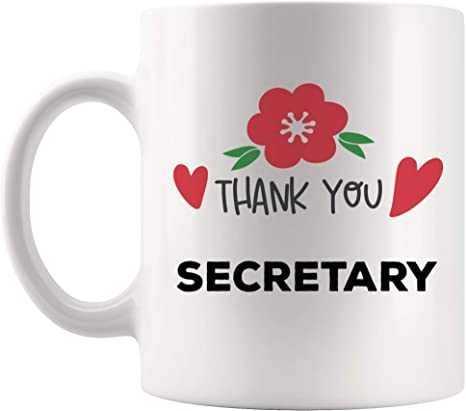 Amazon Com Thank You Secretary Mug Best Coffee Cup Gift Thanksgiving Appreciation Gifts Ideas For Employees Assistant Clerk Aide Aid School Legal Secretaries Funny World Best Gift Mom Dad Kitchen Dining
