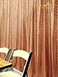 ShiDianYi Sequin Backdrop-Rose Gold-10FTx12FT Sequin Photo Booth Backdrop, Wedding/Party Sequin Curtain, Ready to Dispatch