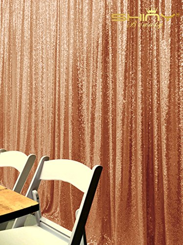 ShiDianYi Sequin Backdrop-Rose Gold-10FTx12FT Sequin Photo Booth Backdrop, Wedding/Party Sequin Curtain, Ready to Dispatch by ShiDianYi