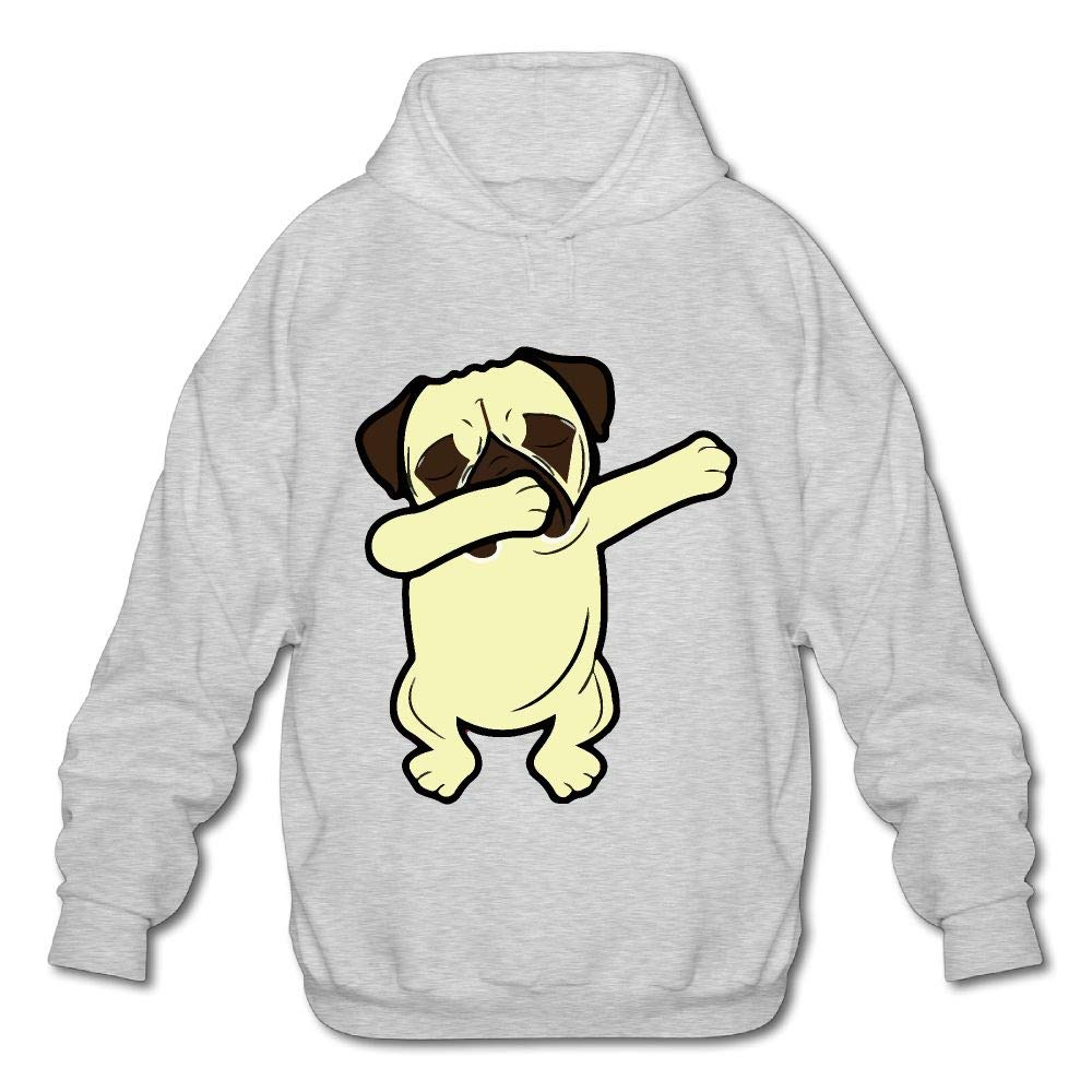 OPQRSTQ-O Dabbing Pug Funny Mens Funny Hooded Sweatshirt Sweater
