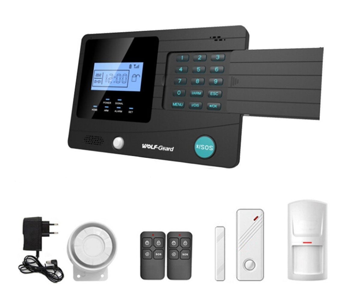 Horich Touch Keypad Wireless GSM Autodial Smart Home House Security Alarm System