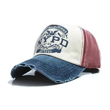 d54a04b914caa ... Casquillo cabido del Sombrero de Hip Hop del Camionero Gorras De  Camionero Gorras Unisex del algodón de Gorras Hombre  Amazon.es  Deportes y  aire libre
