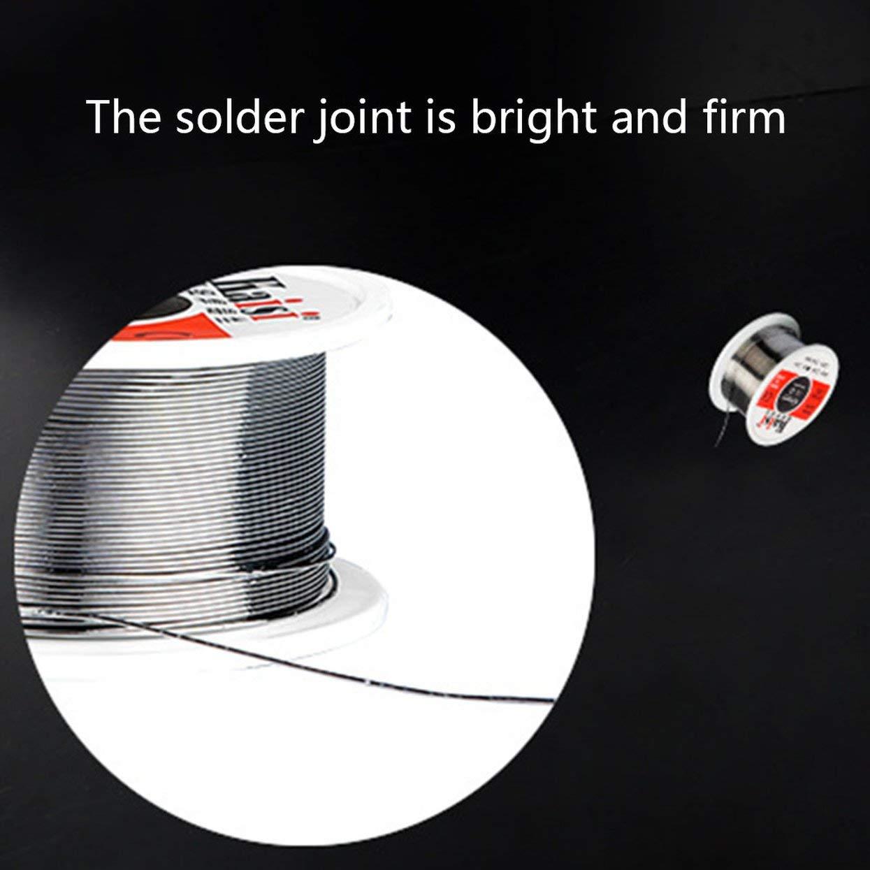fil de soudure /à point de fusion bas fil d/étain outil de soudage Orang Fil d/étain de 0,6 mm composants /électroniques de haute puret/é blanc