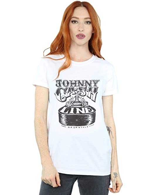 93866557c Absolute Cult Johnny Cash Mujer Nashville Guitar Camiseta del Novio ...