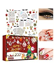 Jul nagelklistermärke, adventskalender 2021 nagelklistermärke 3D julmönster nagelklistermärke självhäftande klistermärke tatuering nagelkonst telefonfodral kort dekoration