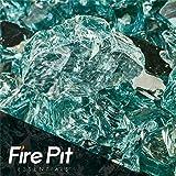 Fireglass 10-pound Reflective Fire Glass with Fireplace Glass and Fire Pit Glass, 1/2-inch, Irish Green Reflective