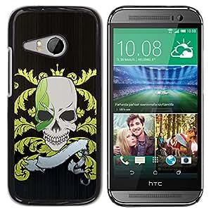 Paccase / SLIM PC / Aliminium Casa Carcasa Funda Case Cover - Funny Pirate Skull Flag - HTC ONE MINI 2 / M8 MINI