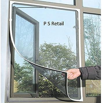 P S Retail Window Mosquito Fly Bug Net Mesh Screen White130x150