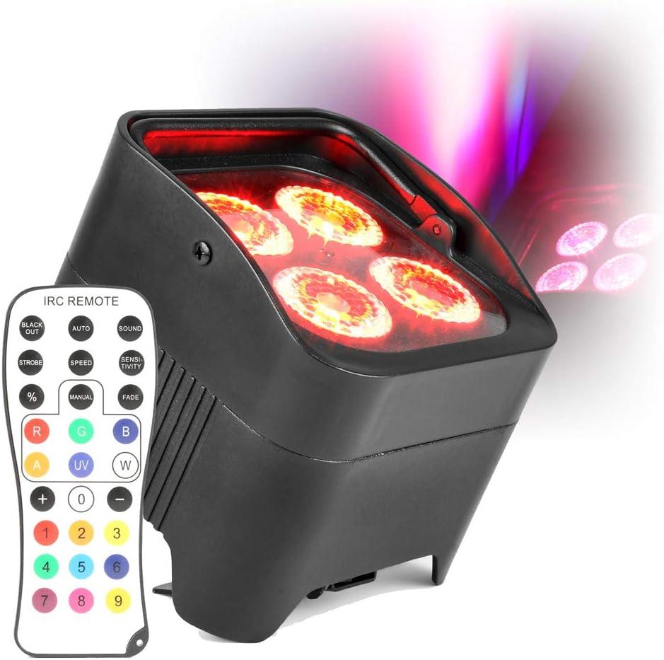 beamz Pair Battery Powered PAR Lights RJ45 DMX 4X10W RGBAW-UV LED ...