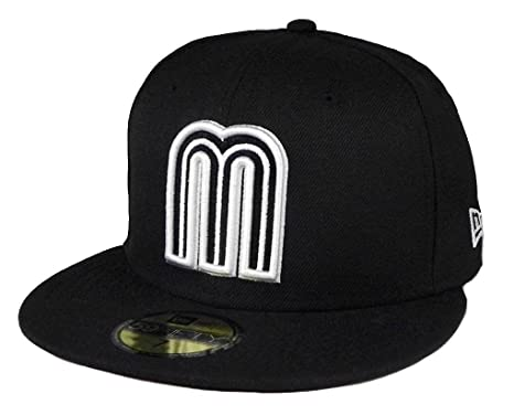 ebbedf7b35d New Era 59fifty World Baseball Classic Mexico fitted hat cap Black White  Men size (