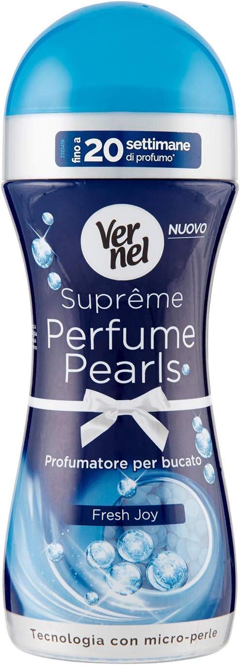 Vernel Supreme Perfume Pearls Clean Fresh; Profumatore per bucato con tecnologia con microperle; Fino a 20 settimane di profumo bucato; 1 x 260 g