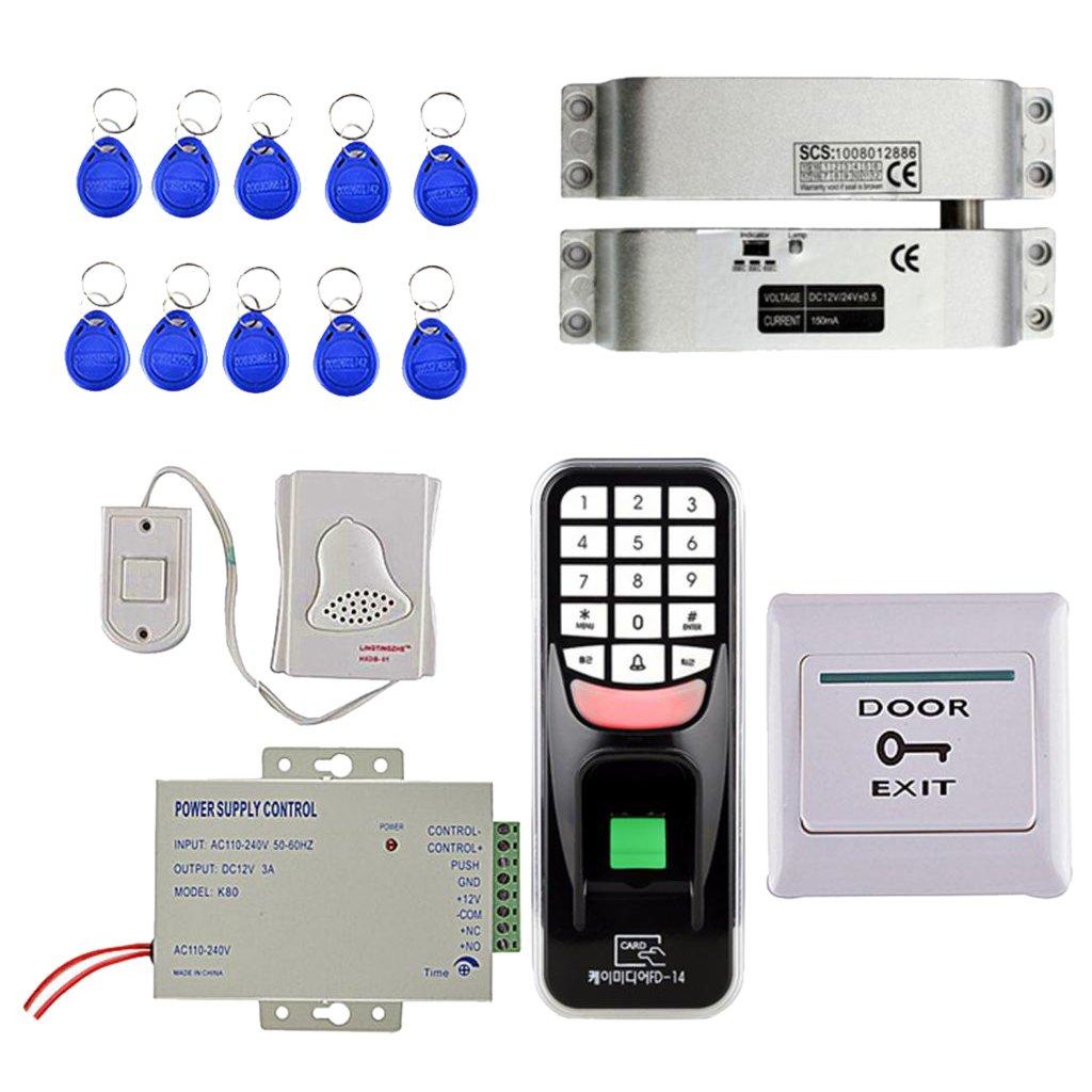 Homyl Standalone 1000 Users Fingerprint 10 Pcs RFID ID Card Reader Door Access Controller Security Work Off-Line