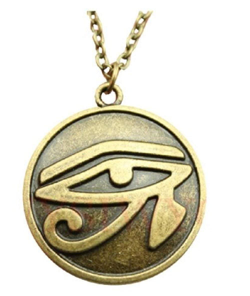 Egipcios Cadena Egipto s/ímbolo Inception Pro Infinite Collar con Colgante Egipcio Horus Ojo de ra