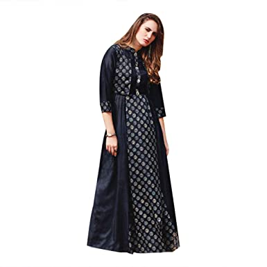 f0697a2255 Bollywood Designer Long Gown Dress Kaftan Maxi Tunic Cocktail Party ...