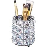 AiLa Makeup Brush Holder Organizer Golden Crystal Bling Personalized Gold Comb Brushes Pen Pencil Storage Box Container…