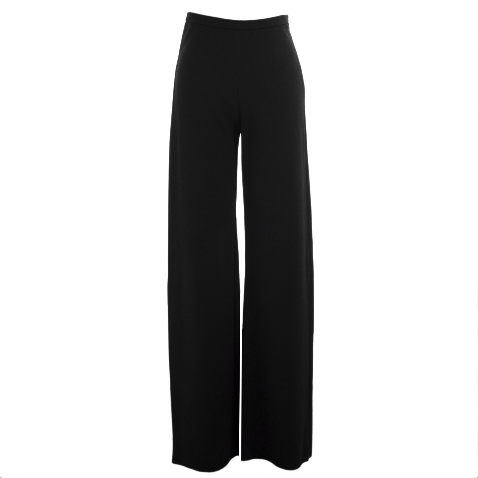 Max Mara Women's Afoso Wide Leg Wool Trousers Sz 14 Black