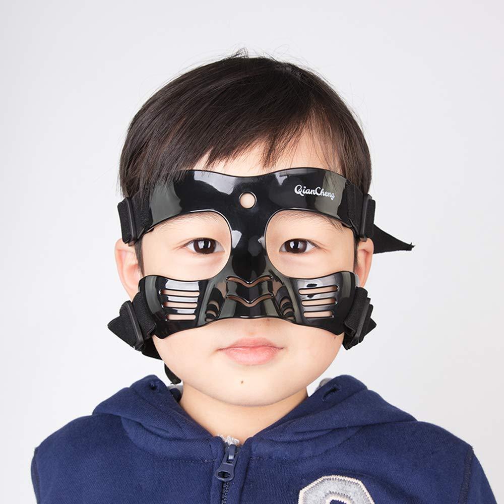 QianCheng Protector Facial para Nariz, máscara de protección para la Cara, Color Negro Serie L5 con Acolchado de Silicona