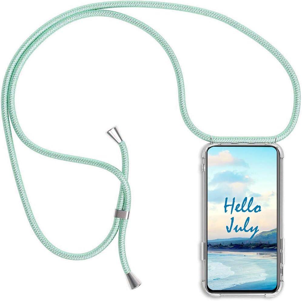 Ultrafina Suave TPU Carcasa de movil con Colgante XTCASE Funda con Cuerda para Samsung Galaxy Note 10 Lite Silicona Transparente - Negro Anti-rasgu/ños Anti-Choque Moda y Practico