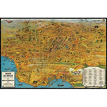 Map Of America Los Angeles.Antiguos Maps Map Of Greater Los Angeles The Wonder City Of America Circa 1932 Measures 24 High X 36 Wide 610mm High X 915mm Wide