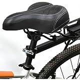 Yaheetech Fahrradsitz Universal Ersatz-Fahrradsattel Komfortabel für Herren und Frauen Schwarz