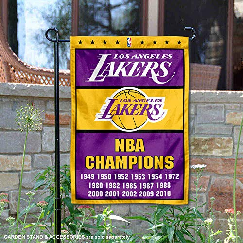 WinCraft Los Angeles Lakers 16 Time Champions Double Sided Garden Flag