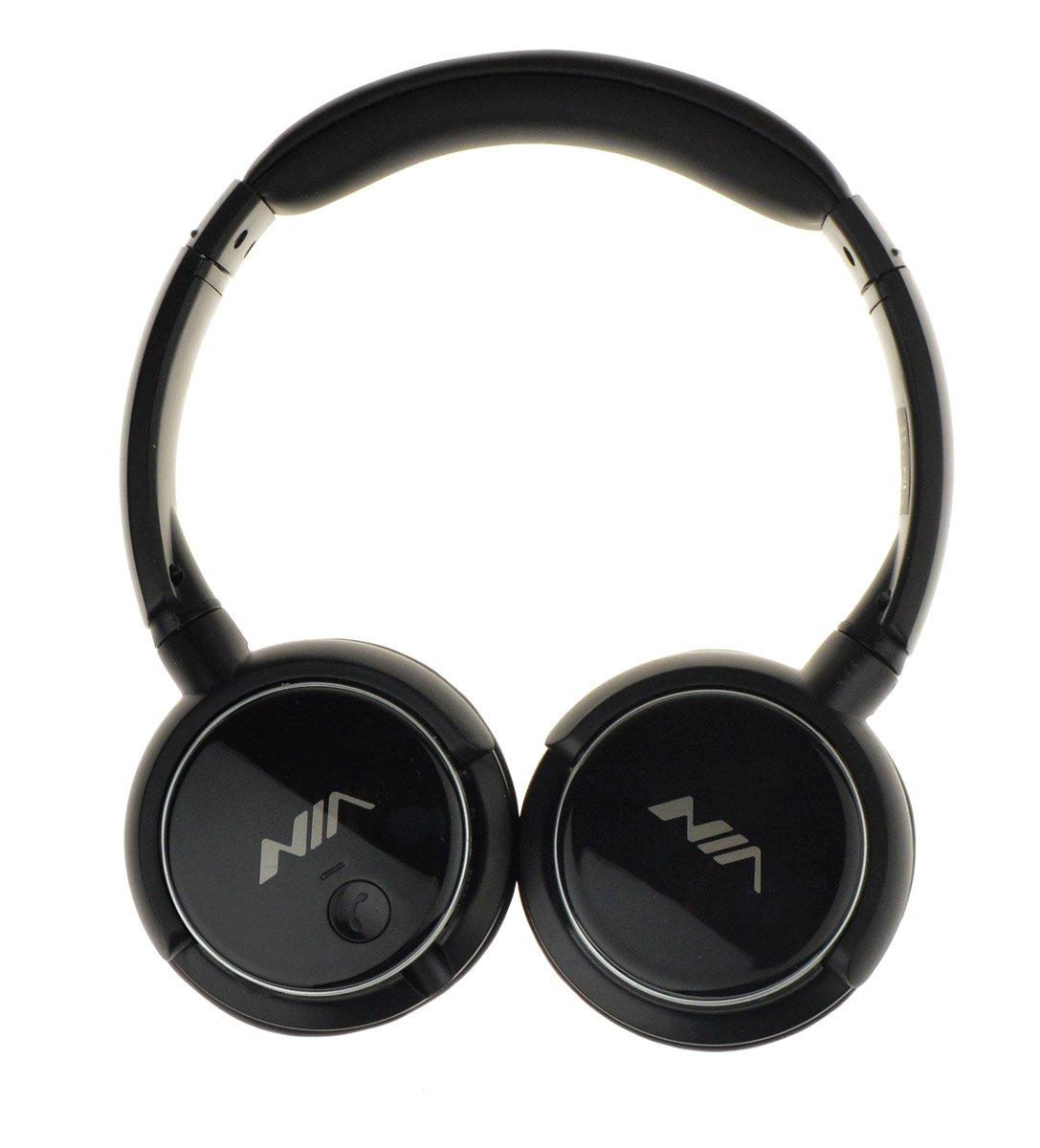 Nia Q1 - Auriculares de Bluetooth auriculares con micrófono apoyo Micro SD Reproductor FM Radio auricular con micrófono: Amazon.es: Electrónica